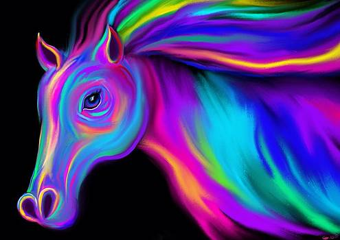 Nick Gustafson - Running Rainbow Stallion
