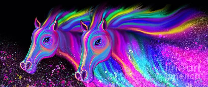 Nick Gustafson - Running Rainbow Stallions
