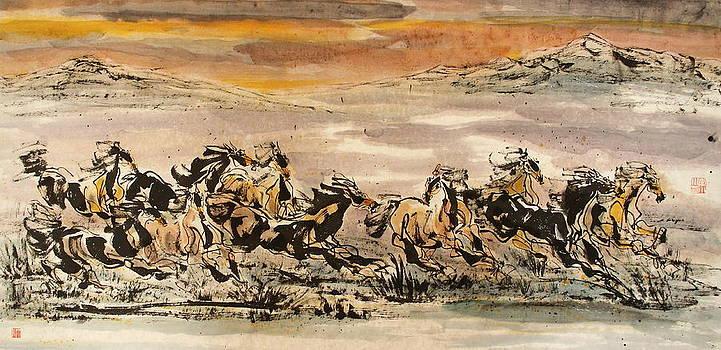 Running towards the east by Richard Xiaochuan Li