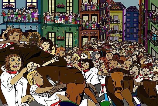 Running with the bulls 1 by Karen Elzinga
