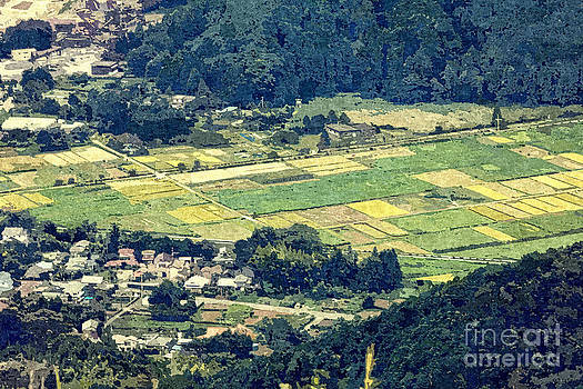 Beverly Claire Kaiya - Rural Japan Rice Fields Forest Countryside Village