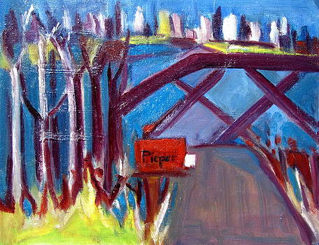 Betty Pieper - Rural Mailbox with Letter to City Cousin