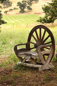 Art Block Collections - Rural Wagon Wheel Chair