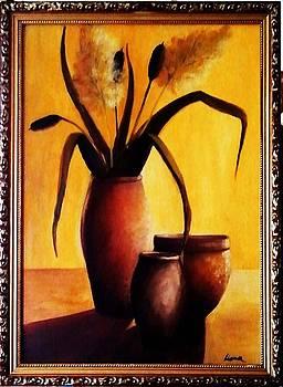 Rush In Clay Pot by Liana Horbaniuc
