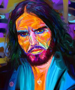 Russell Brand with an iPad by Edward Ofosu