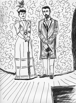 Russians Czarina Alexandra and Czar Nicholas II by Allen Forrest