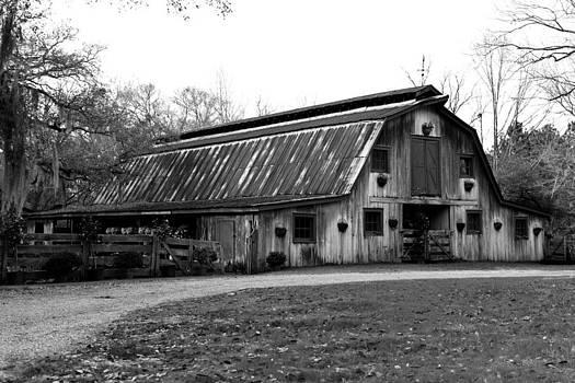 Rustic Barn BW by Susie Hoffpauir