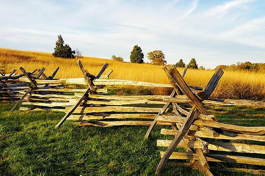 Rustic Fence in the Early Evening by Jean Goodwin Brooks