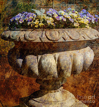 Rustic Flower Container by Eva Thomas