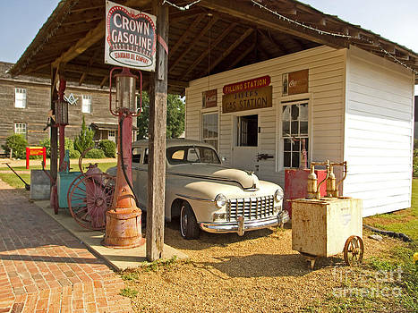 Rustic Gas Station by Russell Christie