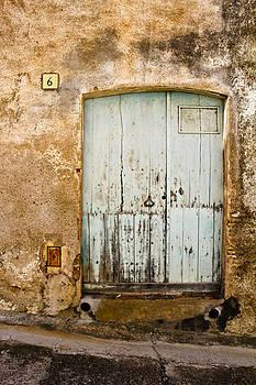 Rustic Llanca Blue Door 6 by Calvin Hanson