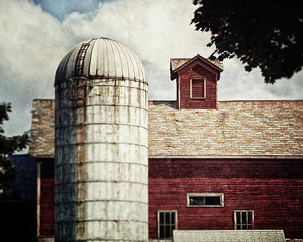 Lisa Russo - Rustic Red Barn Landscape Photographed in Charlton New York