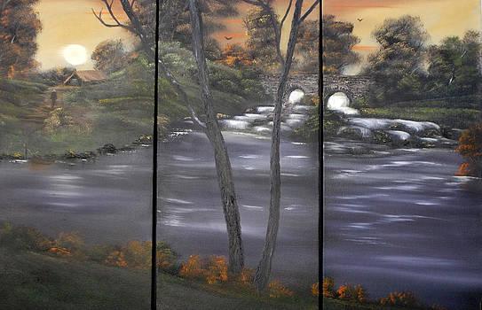 Rustic Triptych by Cynthia Adams