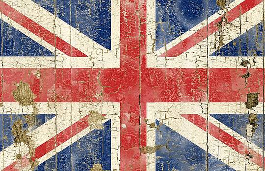 Rustic UK flag by Sharon Marcella Marston