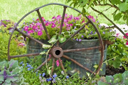 Sandra Foster - Rustic Wheel Digital Artwork