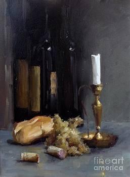 Rustic Wine Bottles by Viktoria K Majestic