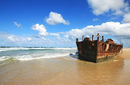Rusting Wreck by Carl Koenig