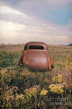 Jill Battaglia - Rusty Car in a Field