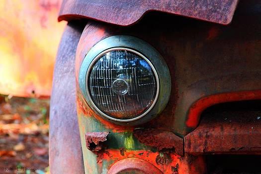 Rusty Old Headlight by Ruben  Flanagan