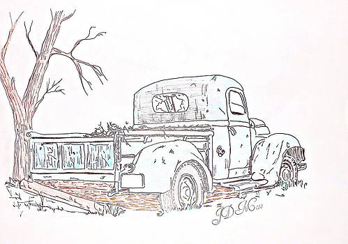 Rusty Old truck by Janet Moss