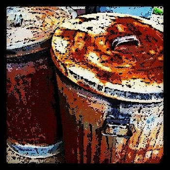 Rusty Trash Cans by Susan Sorrell