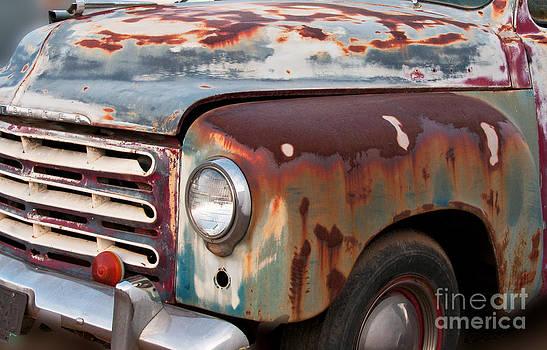 Mae Wertz - Rusty Truck Abstract
