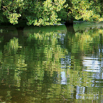 Rutland Water Reflection by Karin Ubeleis-Jones
