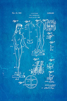 Ian Monk - Ryan Barbie Doll Patent Art 1961 Blueprint