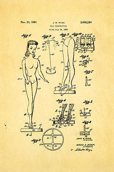 Ian Monk - Ryan Barbie Doll Patent Art 1961
