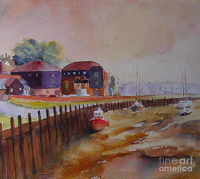 Rye harbour on the Rother by Beatrice Cloake