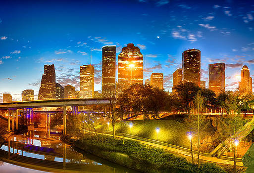 Sabine Street View of Houston by Kayta Kobayashi