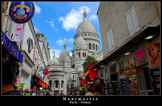Sacre Coeur in Montmartre by Dany Lison