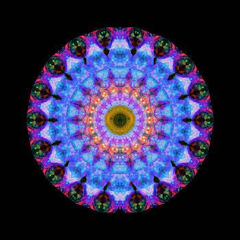 Sharon Cummings - Sacred Crown - Mandala Art By Sharon Cummings