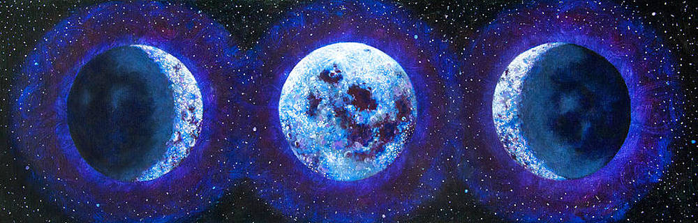 Sacred Feminine Blue Moon by Shelley Irish