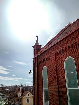 sacred heart church in Atchison Kansas. by Dustin Soph