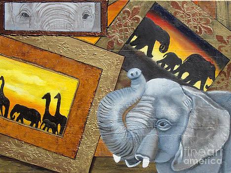 Safari Series-elephant by Darlene Green