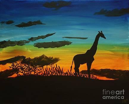 Safari Sunset by Ashley Van Artsdalen