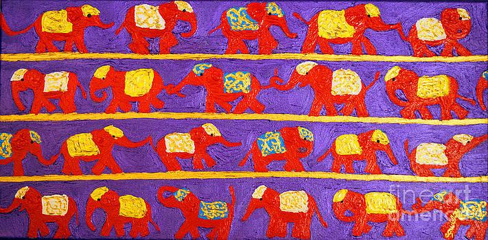 Saffron Elephants by Cassandra Buckley