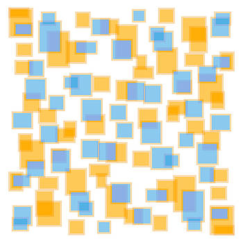 Saffron Yellow And Azure Blue by Frank Tschakert
