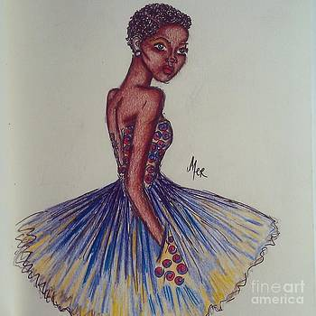 Safieri the girl at the african prom by Miss Kitoko