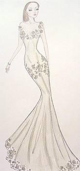 Sage Trellis Gown by Christine Corretti