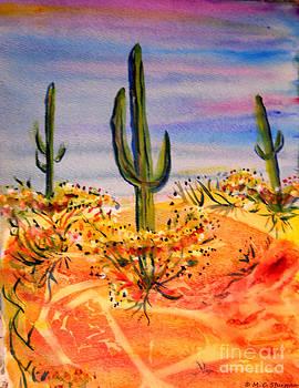 Saguaro Cactus Desert Landscape by M c Sturman