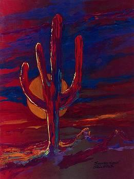 Saguaro Sizzle by Elaine Elliott