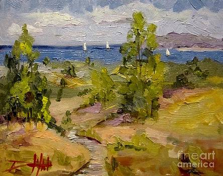 Sail Boats on the Bay by Delilah  Smith