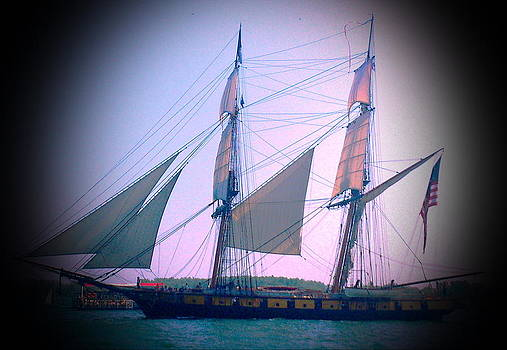 Sail Ship in The Toronto Harbour by Zeni Shariff