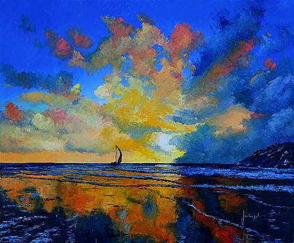 Sail under sunset by Jean-Marc JANIACZYK