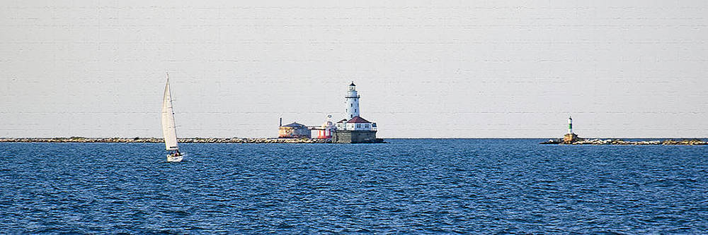 Sailboat and Lighthouse color by James Blackwell JR