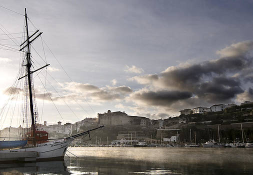 Pedro Cardona Llambias - Sir Robert Sail Boat under a cloudy sky  at The Stunning Port Mahon - Menorca