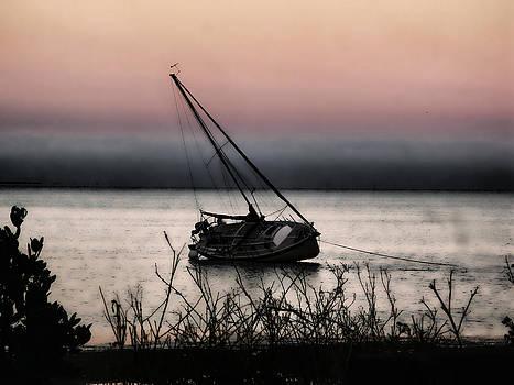 Sailboat at Dawn by Oscar Alvarez Jr