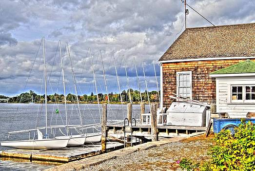 Sailboat at the Dock by Donald Williams